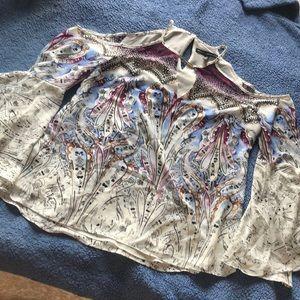 Boho Shoulder baring long sleeve blouse